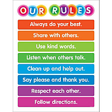 Color Your Classroom Chart Our Rules