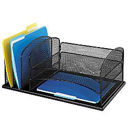 Safco Horizontal Mesh Desk Organizer 8 14 H X 19 12 W X 11
