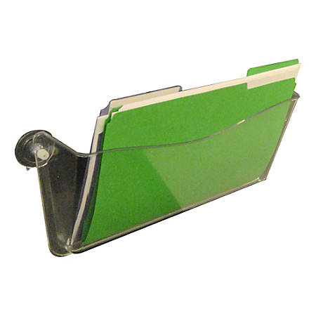 """Azar Displays Single-Pocket Wall Files, Screw Mount, 7""""H x 14-3/4""""W x 3""""D, Clear, Pack Of 4 Files"""