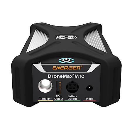 Energen® DroneMax® M10 Portable Drone Battery Charging Station For DJI Mavic Drones, Black/Silver, EN-DM-M10