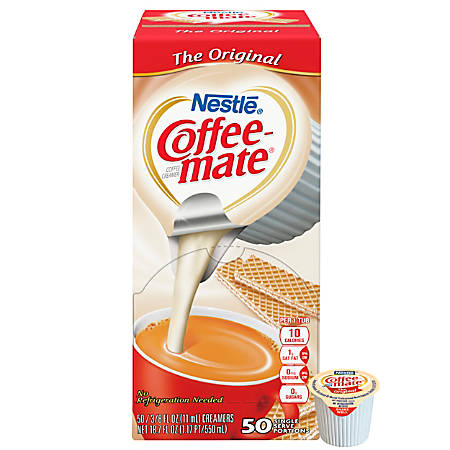 Nestlé® Coffee-mate Liquid Creamer Singles, Original, 0.38 Oz, Box Of 50 Singles