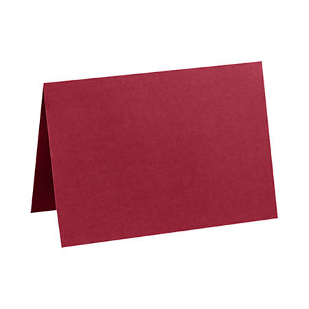 """LUX Folded Cards, A2, 4 1/4"""" x 5 1/2"""", Garnet Red, Pack Of 50"""