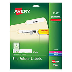 Avery TrueBlock Permanent File Folder Labels