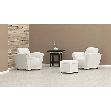 Mayline® Santa Cruz Lounge Seating, Mobile Chair, White/White