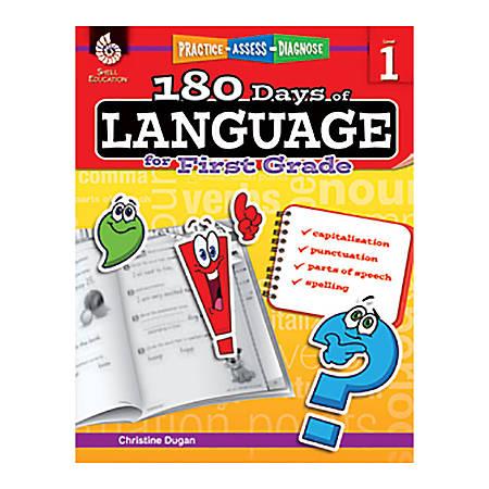 Shell Education 180 Days Of Language Workbook, Grade 1
