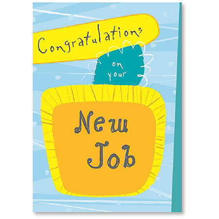 Viabella new job greeting card 5 x 7 multicolor by office depot viabella new job greeting card 5 m4hsunfo