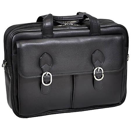 """McKleinUSA Hyde Park 15735C Double Compartment 15.4"""" Laptop Case, Black"""