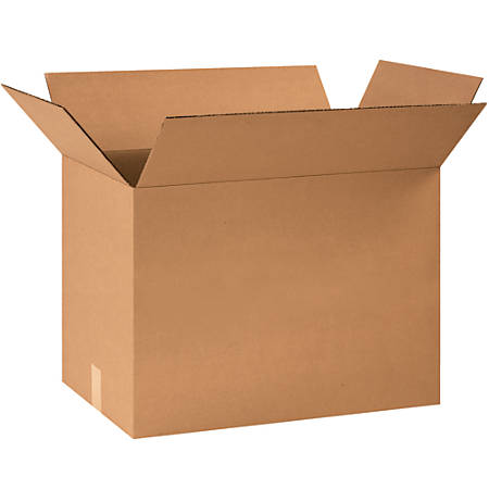 """Office Depot® Brand Corrugated Boxes, 18""""H x 16""""W x 24""""D, 15% Recycled, Kraft, Bundle Of 15"""