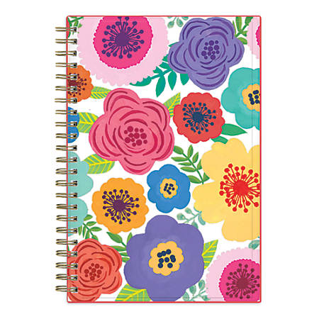 """Blue Sky™ Weekly/Monthly Academic Planner, CYO, 5"""" x 8"""", 50% Recycled, Mahalo, July 2018 to June 2019"""