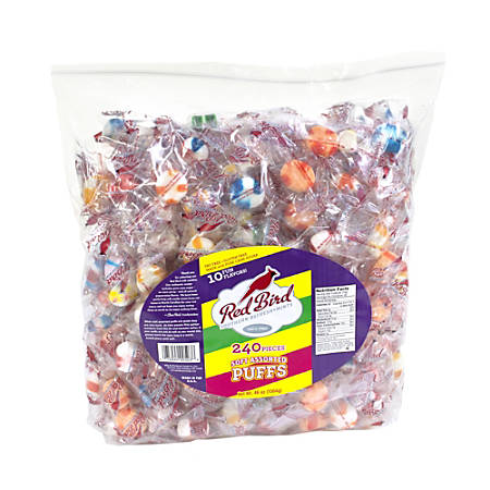 Red Bird Assorted Candy Puffs, 240 Individually Wrapped Pieces, 48-Oz Bag