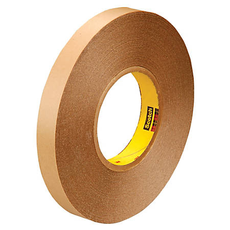 """3M™ 9425 Removable Double-Sided Tape, 3"""" Core, 1"""" x 216', Clear, Pack Of 2"""
