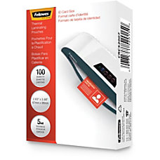 Fellowes Clear Laminating Pouches 2 58