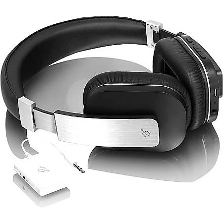Aluratek Bluetooth® Wired/Wireless Stereo Over-The-Ear Headphones