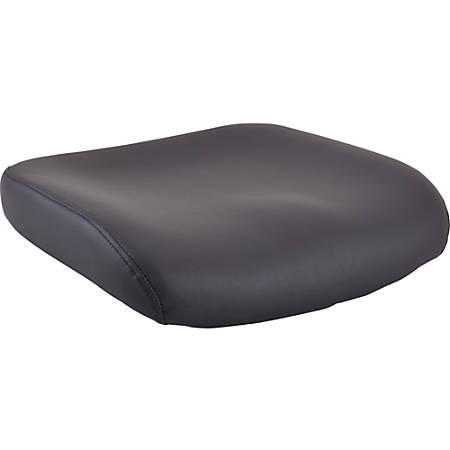 Lorell Padded Leather Seat Cushion for Conjure Executive Mid/High-back Chair Frame - Black - Bonded Leather - 1 Each