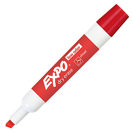 EXPO® Low-Odor Dry-Erase Marker, Chisel Point, Red