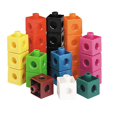 """Learning Resources® Snap Cubes®, 3/4""""H x 3/4""""W x 3/4""""D, Assorted Colors, Grades Pre-K - 9, Pack Of 1,000"""