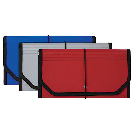 Office Depot® Brand Poly 13-Pocket File, Check Size, Assorted Colors