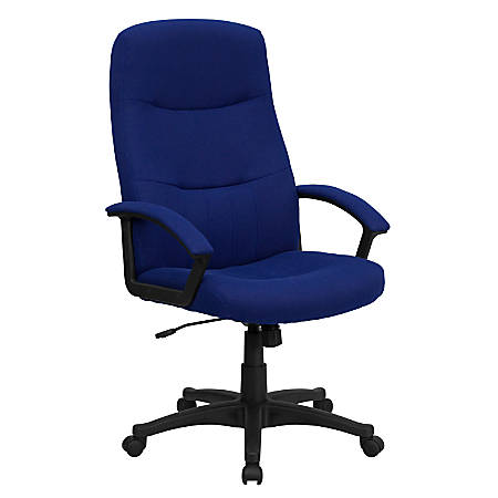Flash Furniture Fabric High-Back Swivel Chair, Blue/Black