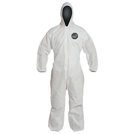 DuPont Proshield 10 Coveralls With Attached Hood, X-Large, White, Pack Of 25 Coveralls