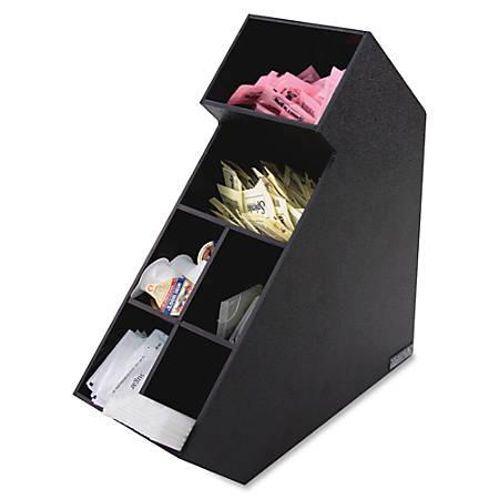 Vertiflex 6-Compartment Vertical Organizer - 6 Compartment(s) - Black - Plastic - 1Each