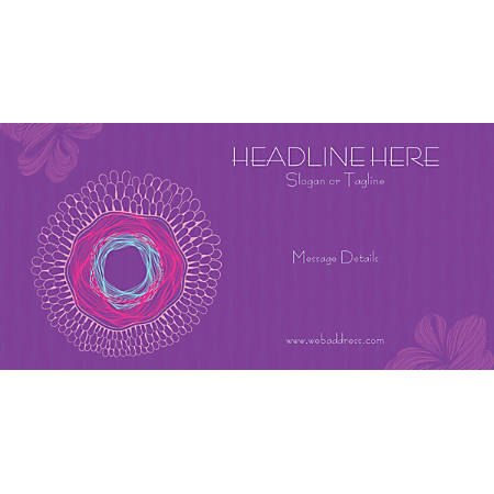 Custom Horizontal Banner, Pink Nest Pattern