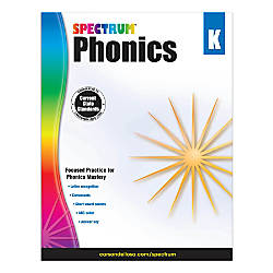 Carson Dellosa Spectrum Phonics Workbook Kindergarten