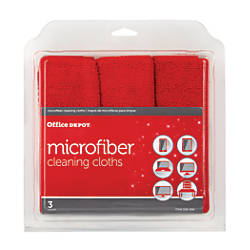 Ativa Microfiber Cleaning Cloths Red Pack