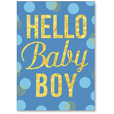 "Viabella New Baby Boy Greeting Card, 5"" x 7"", Multicolor"