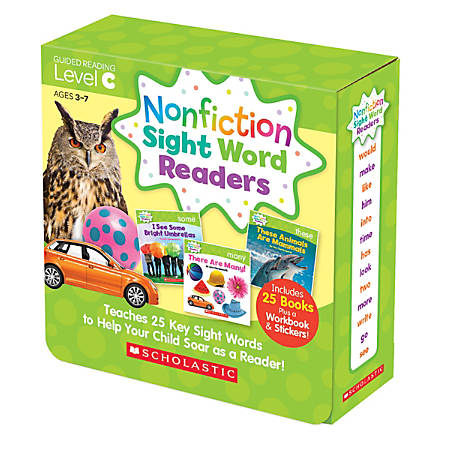 Scholastic Teacher Resources Nonfiction Sight Word Readers Parent Pack, Level C, Pre-K To 1st Grade