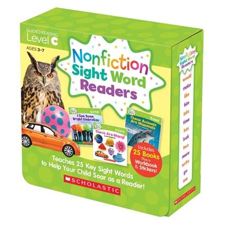 Scholastic Teacher Resources Nonfiction Sight Word Readers Parent Pack,  Level C, Pre-K To 1st Grade Item # 328665