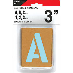 Cosco Letters and Numbers Stencil Kit