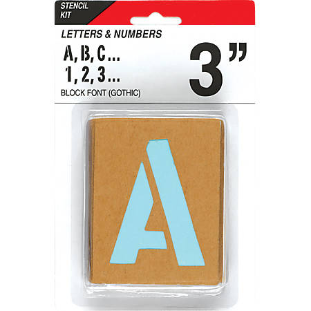 "Creative Start® Stencil Kit, Reusable Paper, Letters, Numbers and Symbols, Gothic, 4"", 45 Characters"
