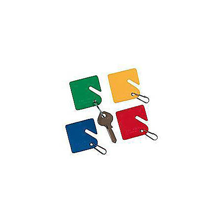 STEELMASTER® Slotted Rack-Style Snap-Hook Key Tags, Assorted Colors, Pack Of 20