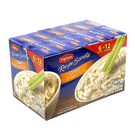Lipton Recipe Secrets Soup And Dip Mix, Onion, 2 Oz, 2 Pouches Per Box, Case Of 6 Boxes