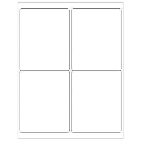 """Office Depot® Brand Removable Rectangular Laser Labels, LL267, 4"""" x 5"""", White, Case Of 400"""