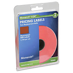 Monarch Pricemarker Labels 2 Line Fluorescent