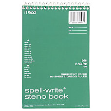 Mead Spell Write Steno Book 80