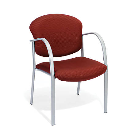OFM Danbelle Series Contract Reception Chair, Burgundy/Silver