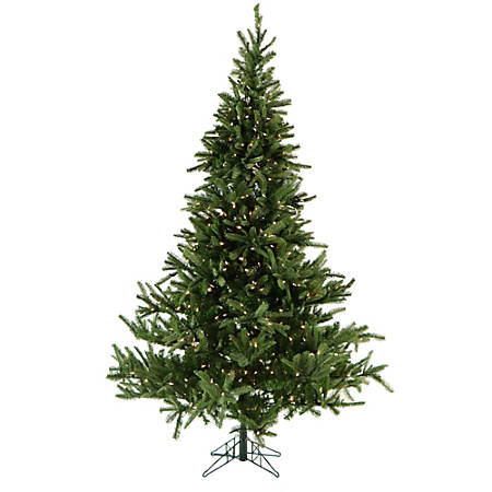 Fraser Hill Farm Artificial Foxtail Pine Christmas Tree With Clear LED String Lighting And EZ Connect, 9'