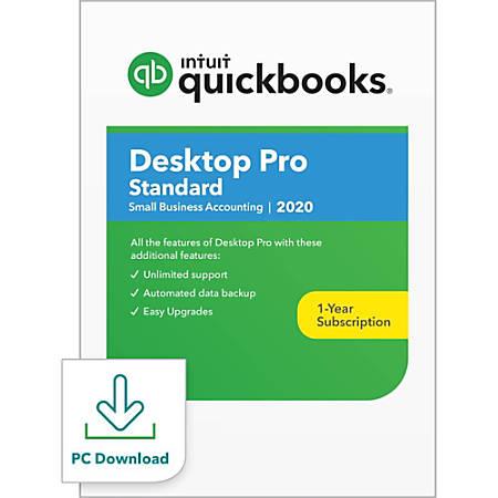 Intuit® QuickBooks® Desktop Pro Standard 2020, 1 User, 1 Year Subscription, Windows, Download