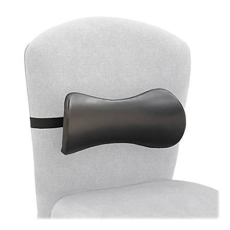 """Safco Memory Foam Lumbar Backrest, 11""""H x 14 1/2""""W x 4""""D, Gray"""
