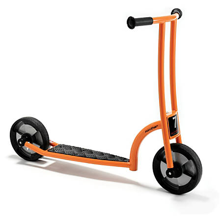 "Winther Circleline Scooter, 29 15/16""H x 17 3/4""W x 39 3/4""D, Orange"