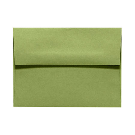 "LUX Invitation Envelopes With Moisture Closure, A9, 5 3/4"" x 8 3/4"", Avocado Green, Pack Of 250"