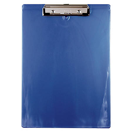 """Saunders® 96% Recycled Plastic Clipboard, Letter Size, 12 1/2""""H x 9""""W x 1/2""""D, Ice Blue"""