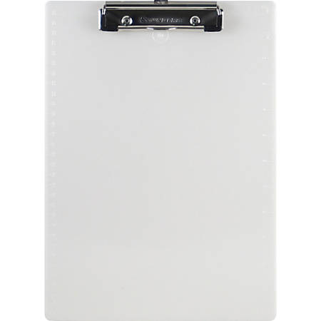 "Saunders® 96% Recycled Plastic Clipboard With Spring Clip, 8 1/2"" x 11"", Pearl"