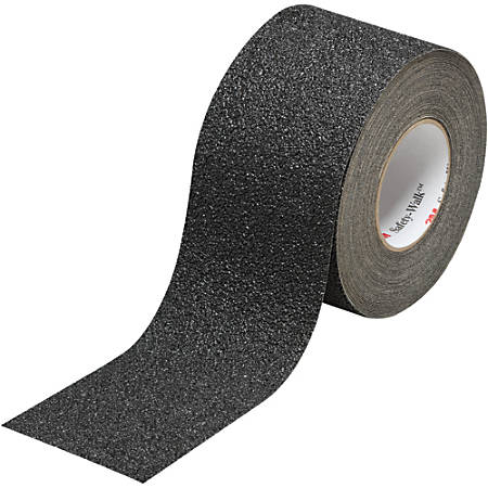 "3M™ 710 Safety-Walk Tape, 3"" Core, 4"" x 30', Black"