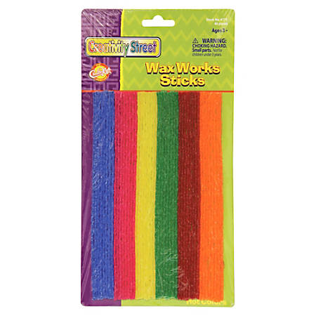 "Wax Works Wax Works Hot Colors Sticks Assortment - 8"" - 48 / Pack - Assorted"