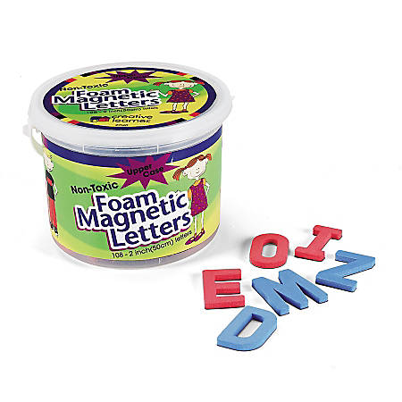 """Pacon® Magnetic Letters, Foam, Uppercase, 2"""", Red/Blue, Box Of 108"""