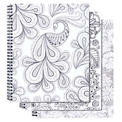 Office Depot Brand Adult Coloring Notebook 1 Subject College Ruled ...