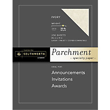 Southworth Parchment Specialty Paper 8 12